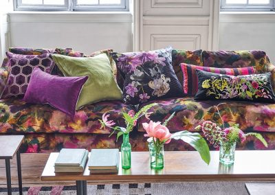 Bright floral Sofa fabric from Designers Guild