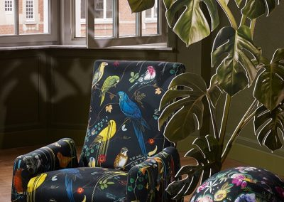 Occasional Chair in Christian Lacroix fabric