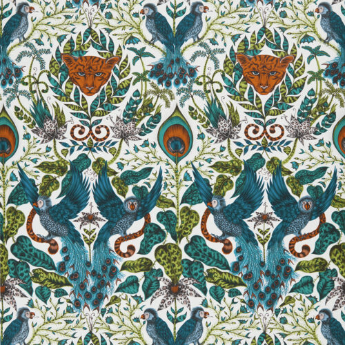 Amazon Wallpaper in Jungle designed by Emma J Shipley for the Animalia Wallpaper collection for Clarke & Clarke