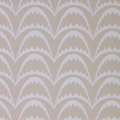Arcade Wallpaper in Pastel Pink by Barnaby Gates