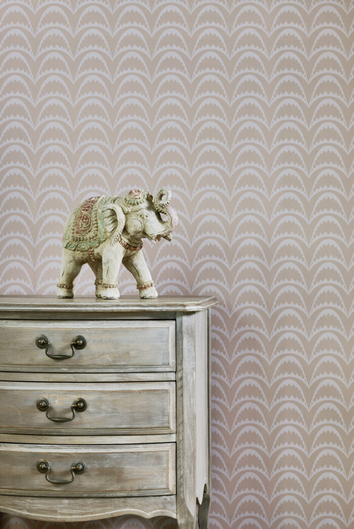 arcade wallpaper by Barnaby Gates in pink