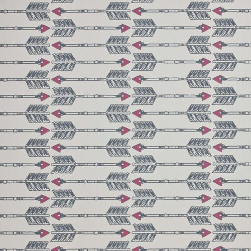 Arrow wallpaper in Charcoal Pink by Barnaby Gates